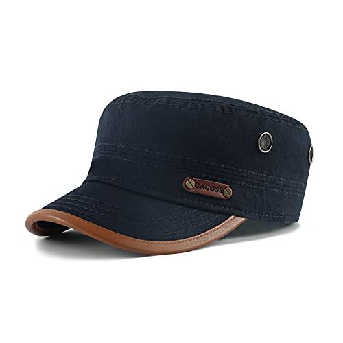 CACUSS Uomo Cotone Cappello da Baseball Regolabile Cappellini da Baseball per Ambientazione Esterna, Sport, Viaggi (CAP0059_Navy)
