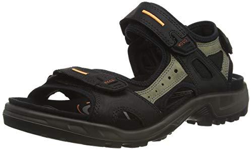 ECCO Men's Yucatan outdoor offroad hiking sandal, Black/Mole/Black, 43 EU (US Men's 9-9.5 M)