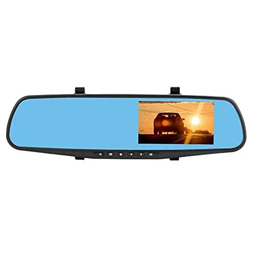 Dashcam Auto Front Rear Dashcam Auto Mini Dash Cam Auto Dash Camera Cámara frontal y trasera automática Dash Cam Cámaras automáticas con grabadora Doble registro de 4 pulgadas, talla única