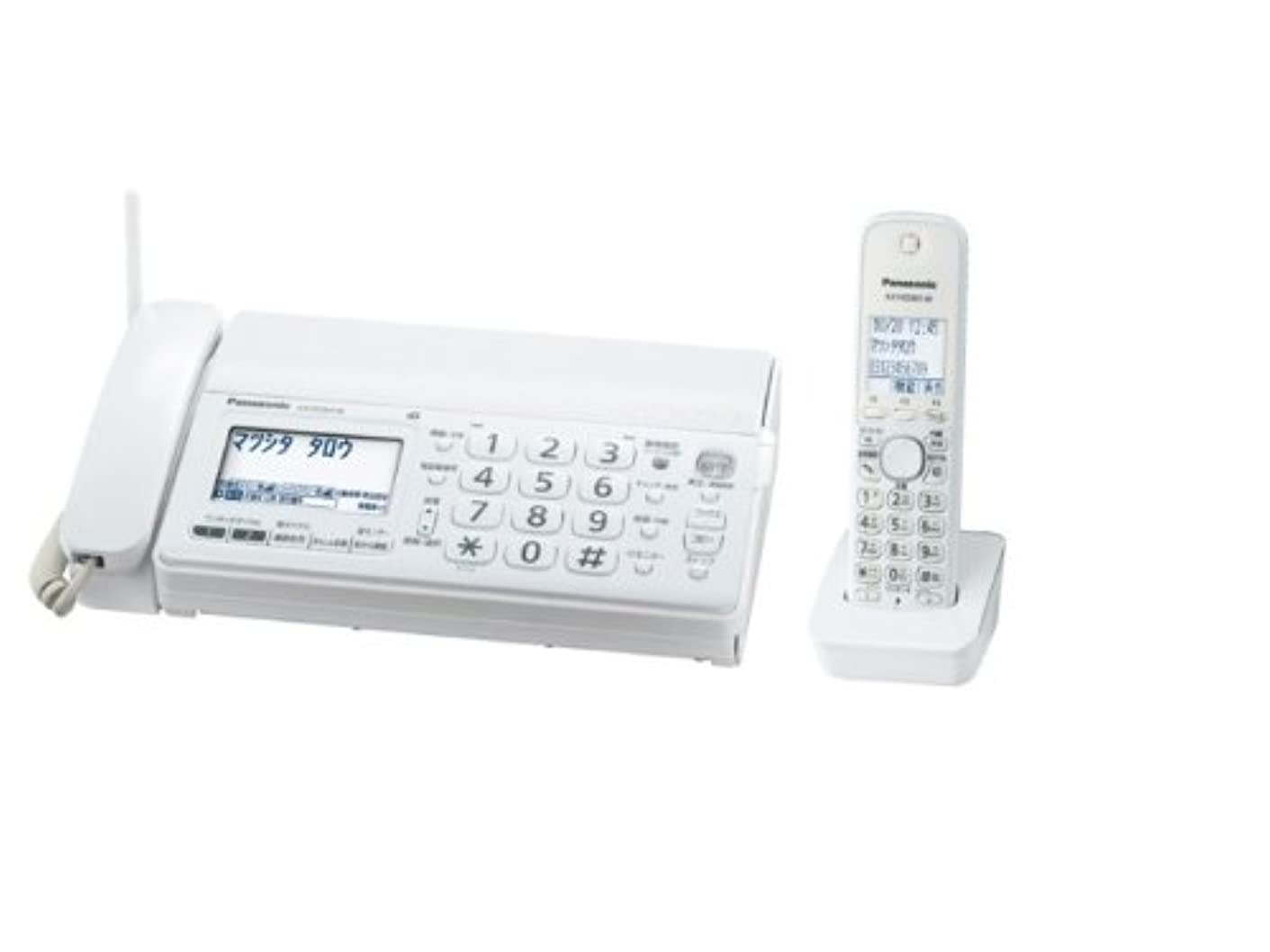 勧める指紋献身パナソニック おたっくす デジタルコードレスFAX 子機1台付き 1.9GHz DECT準拠方式 ホワイト KX-PD301DL-W