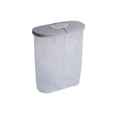 HARVESTFLY 2,5L Vorratsdosen,Müsli Schüttdose & Frischhaltedosen, BPA frei Kunststoff Vorratsdosen luftdicht für Getreide, Mehl, Zucker usw(Grau)