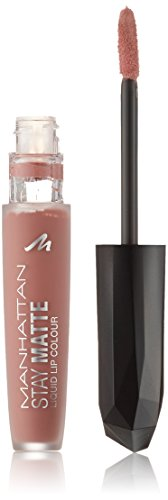 Manhattan Nude Stay Matte Liquid Lip Colour, Farbe 200 Pink Square, 3er Pack (3 x 6 ml)
