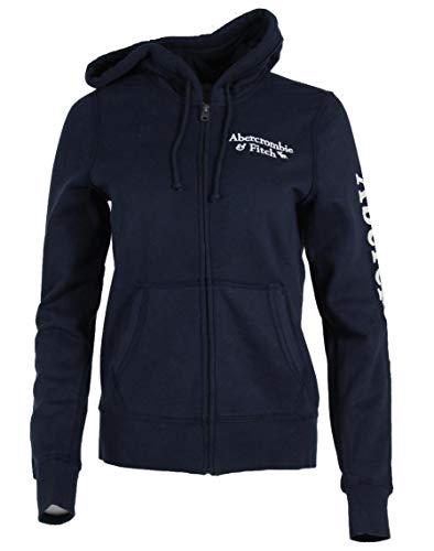 Abercrombie & Fitch Sudadera con capucha para mujer. azul marino L