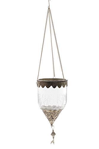 DARO DEKO Crackle Glas Teelicht Hänger Ø 10,5cm