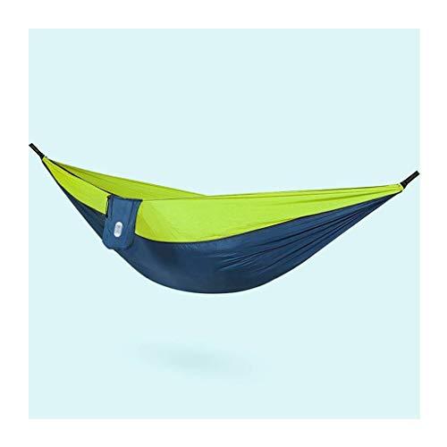 Hong Yi Fei-Shop Relaxdays Columpio Hoja de Cama para Colgar al Aire Libre Doble Lona espesando Hamaca Interior y al Aire Libre Camping Hamaca portátil 106.2x55.1 Pulgadas Hamaca Doble (Color : B)