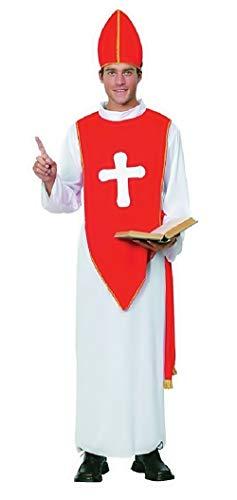 Kostüm - Verkleidung - Karneval - Bischof - Priester - Halloween - Priester - Katholik - Kirche - weiße - Erwachsene - Mann - Junge - Einheitsgröße - Geschenkidee