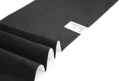 IndividualiseYourCar Mikrofaserstoff selbstklebend schwarz Wildleder Optik, Kunstleder - Stretch Folie Stoff (50cm x 146cm (35,60€/m²), Schwarz)
