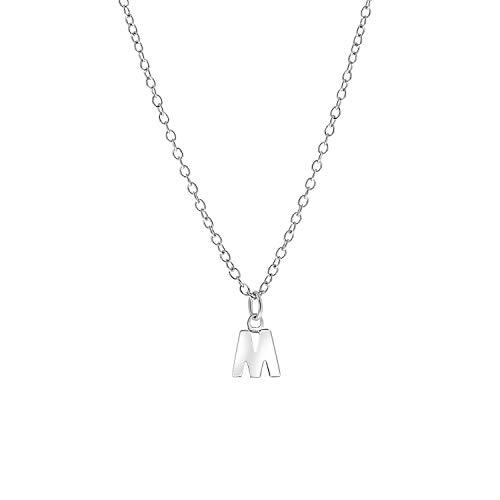 Lucardi - Kinderkette aus 925 Silber, Alphabet - Buchstabe M - für Mädchen - 925 Silber
