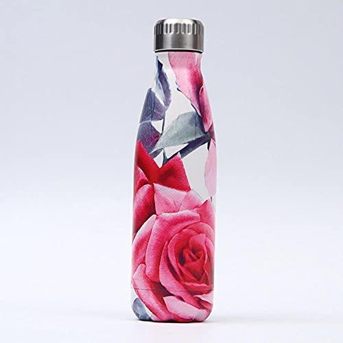 Frasco de vacío con aislamiento de doble pared de 500 ml, termo, botella de agua de acero inoxidable, botella de regalo de Navidad, ESPAÑA, 194
