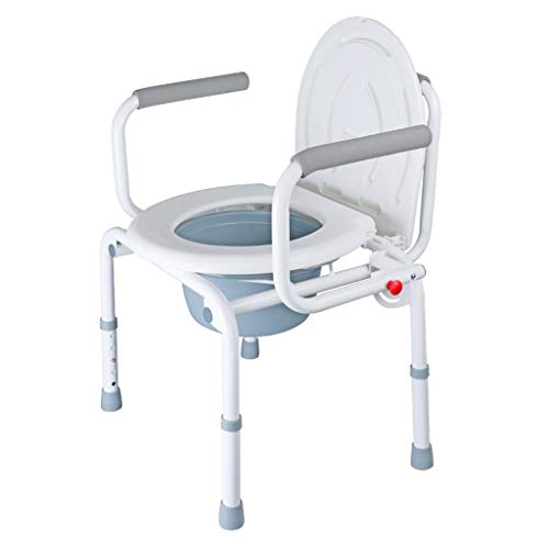 PanYFDD Silla de baño para personas mayores, impermeable, material de pp, altura ajustable, 52 x 46 x (71-80) cm