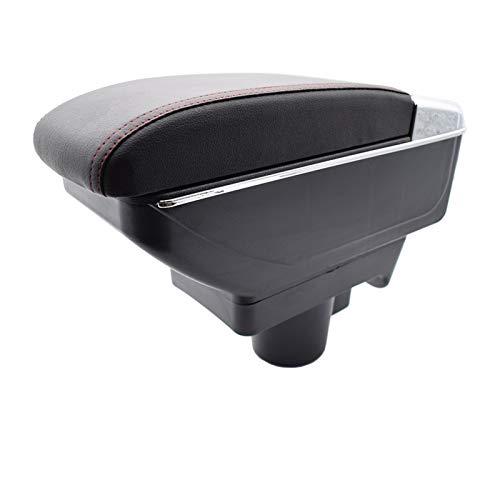 LinYom Reposabrazos/Apto para - Opel/Astra H 2004-2014 Content Arm Arm Rest Dual Layer Caja De Almacenamiento Decoration Car Styling 2005 2007 (Color Name : Red Thread)