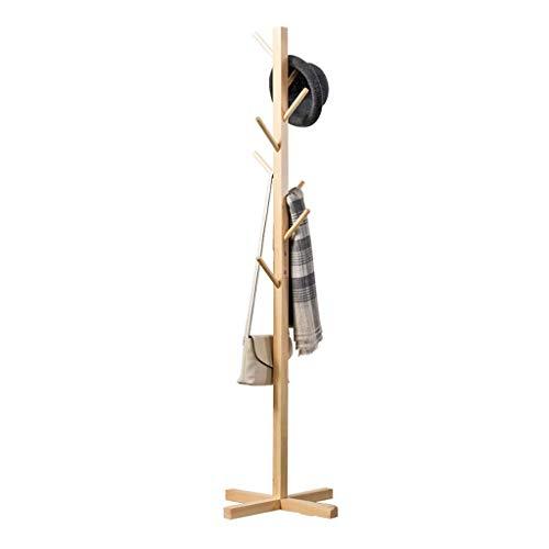 Eenvoudige Effen Houten Vloerjas Rack Eenvoudige Hanger Mode Kleding Rack Opslag Hangers Slaapkamer Maat: 165x50x50cm kapstok (Kleur : Rood)
