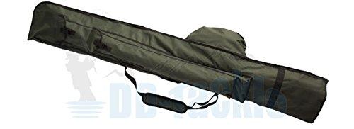 DD-Tackle Rutenfutteral 12ft 195cm für 3 montierte + 3 unmontierte Karpfen Ruten Rutentasche Angeltasche Futteral