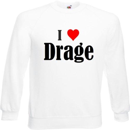 Reifen-Markt Sweatshirt I Love Drage Größe XL Farbe Weiss Druck Schwarz