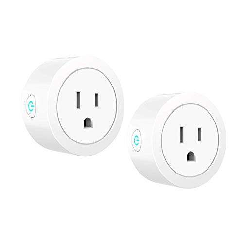 TEESSO WIFI Smart Plug Compatible with Alexa, Google Home, IFTTT, Mini Wireless Outlet Switch Remote Control Your Devices from Anywhere (2Pack-Round2)