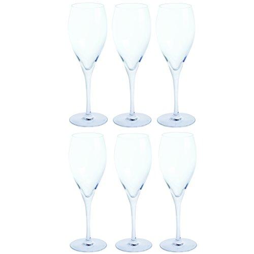 Dartington Crystal ST3171/2/6PK - Crystal Prosecco Flute Glasses, Set of 6, 22 x 14.5 x 22 cm