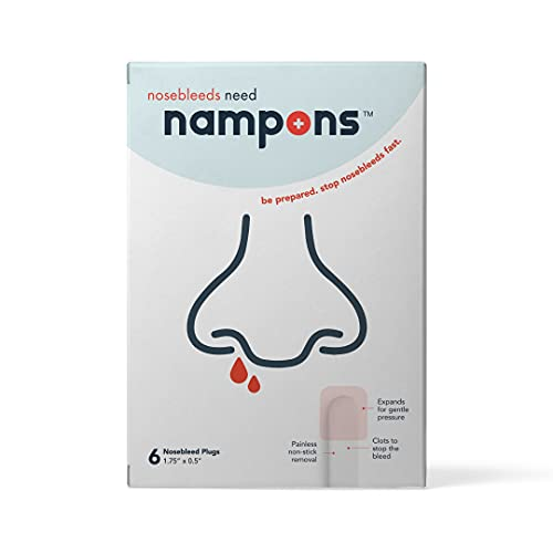 Nampons for Nosebleeds - 6 Sterile Nasal Plugs...