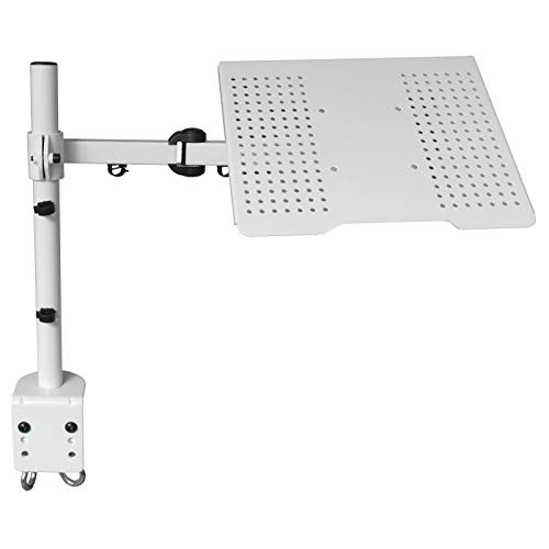 DRALL INSTRUMENTS Universal Tischhalterung Halterung für Laptop Notebook Netbook Tablet PC - 10kg belastbar - neigbar schwenkbar höhenverstellbar - Laptophalter Tisch Ständer weiß Modell: LT10W