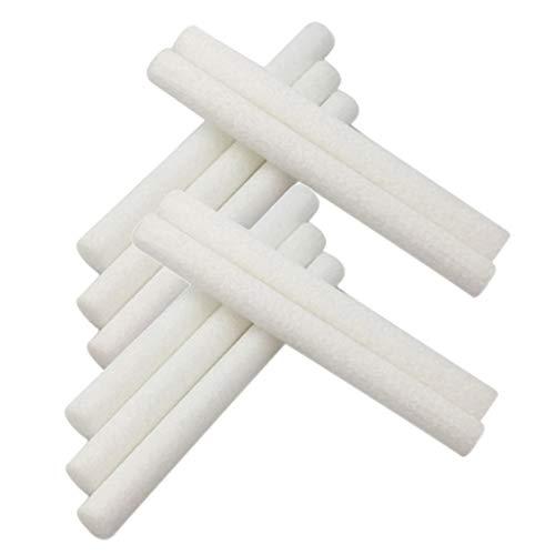Flameer Humidificador de aire de 98x8 mm Filtros Palillos Palillos de algodón Recambios de mechas - 10 piezas