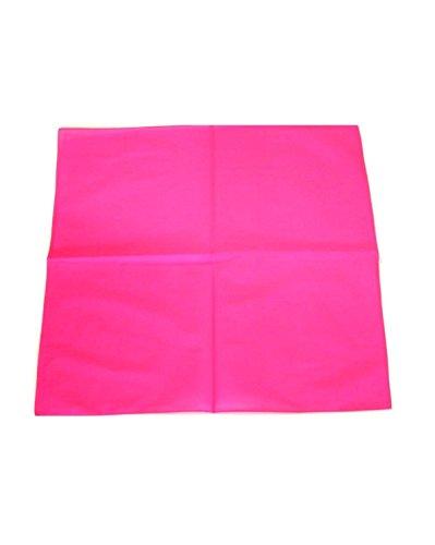 Bandana uni Zac's Alter Ego®, foulard 100 % coton - Rose -