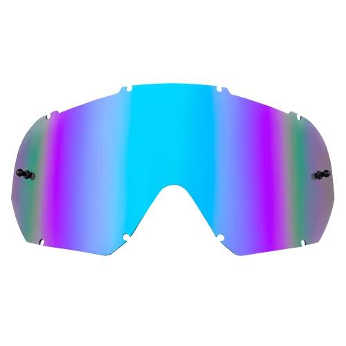 O'NEAL | Motocross-Brillen-Ersatzteile | Motorrad Enduro | Maximale Lichtdurchlässigkeit bei allen Bedingungen, 1,2 mm starke Linse mit 100% UV Schutz | B-10 Goggle Spare Lens | Radium Blau | One Size