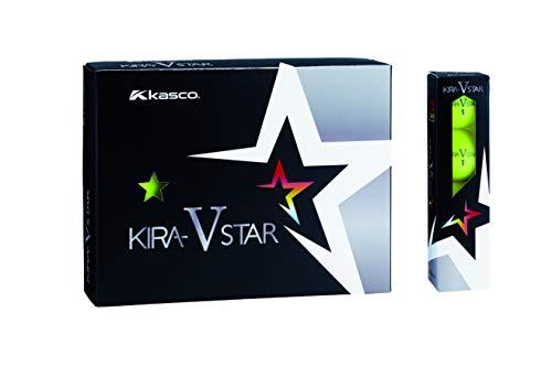 キャスコ(Kasco) ゴルフボール KIRA STAR V キラスターV ユニセックス キラスターVN イエロー 最適ヘッドスピード: 25~45 2ピースボール: 1コア+1カバー
