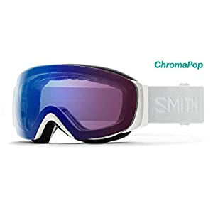 Smith Optics I/O Mag S Adult Snowmobile Goggles – White Vapor/Chromapop Photochromic Rose Flash/One Size