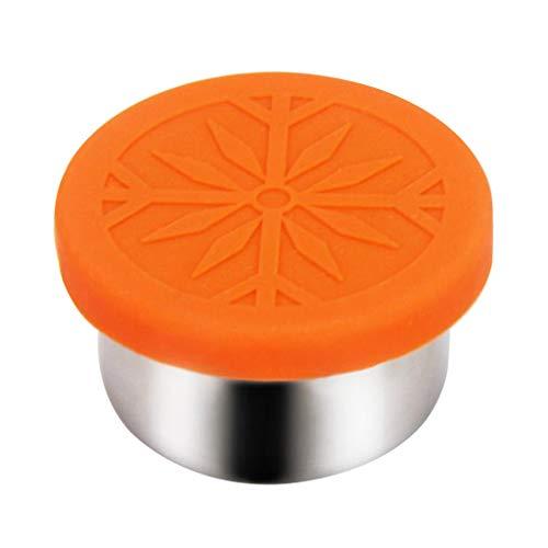 perfk Caja de Almacenamiento del Envase de Comida de La Fiambrera del Acero Inoxidable con La Tapa - 100 ml