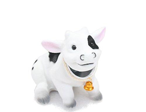 Batty Bargains Bobblehead Cow with Car Dashboard Adhesive
