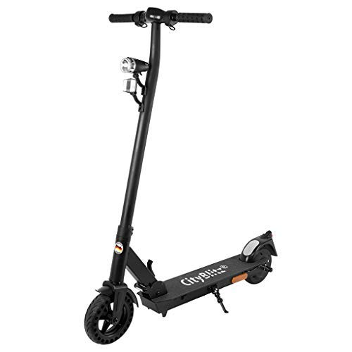 Cityblitz Electric Scooter Urbanize, CB050SZ, E-Scooter, Foldable, Ultra Lightweight, Urban Commuter's Choice, for Adults and Kids - Front and Rear Brake, Bell, Display, Lithium Battery
