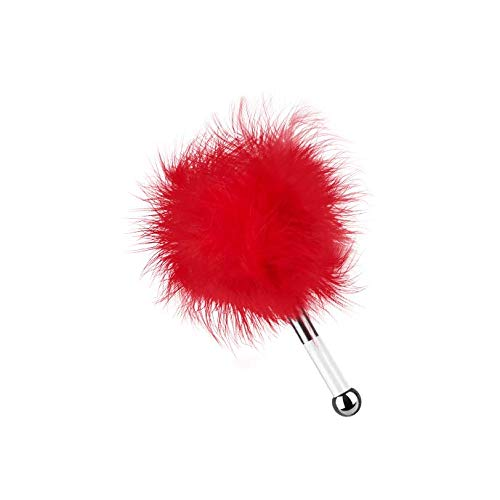 EIS, Deluxe Federkitzler 'Love me tender', für zärtliche Streicheleinheiten, schwarz, Farbe:Rot