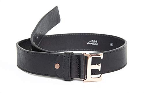 Equiline Ledergürtel EQUIBELT schwarz mit großem E als Schnalle, Eq18_FS_Gr.:100