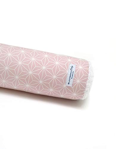 Blausberg Baby - Bettschlange Nestchen Bettumrandung Kantenschutz Kopfschutz für Baby- und Kinderbett Happy Star Rosa (80 cm) - Materialien OEKO-TEX® Standard 100 zertifiziert - 100% made in Hamburg