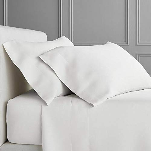 Hotel Signature Sateen Collection, 800 Thread Count 100% Cotton 6 Piece Set (Cal King, Brillant White)