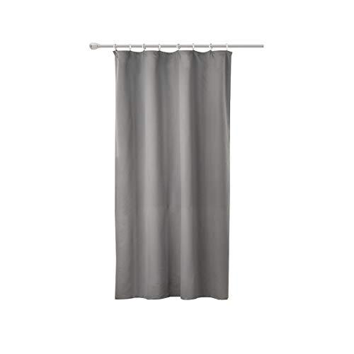 WOLTU® #489, Vorhang Gardinen Blickdicht mit kräuselband für schiene, Leichter & weicher Verdunklungsvorhang für Wohnzimmer Schlafzimmer Tür, 135x175 cm, Dunkelgrau, (1 Stück)
