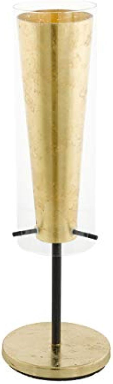 EGLO PINTO Gold Tischleuchte Stahl 60 W, schwarz
