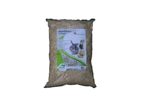 Hanfeinstreu 45 Liter, ( EUR 0,26/Liter), Einstreu aus 100 % Hanf geeignet als Käfig Bodenbedeckung für Kaninchen, Meerschweinchen, Hamster, Degus , Ratten und andere Nagetiere, ebenso geeignet für Sc
