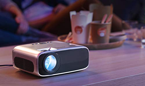 Philips NeoPix Prime Video Projector, 120 Inch Display, Wi-Fi Screen Mirroring, Bluetooth, Built-in Media Player, HDMI, USB, microSD, 3.5mm Audio Out Photo #3