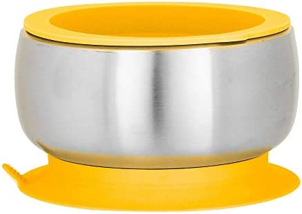 Avanchy Stainless Steel Suction Bowl Stainless Steel Kids Bowls Suction Bowls with Lids Silicon product image
