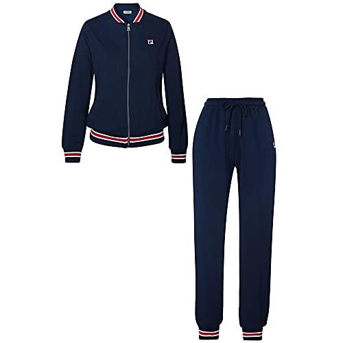 FILA Damen Lounge-Set, Cotton brushed Fleece, navy, M
