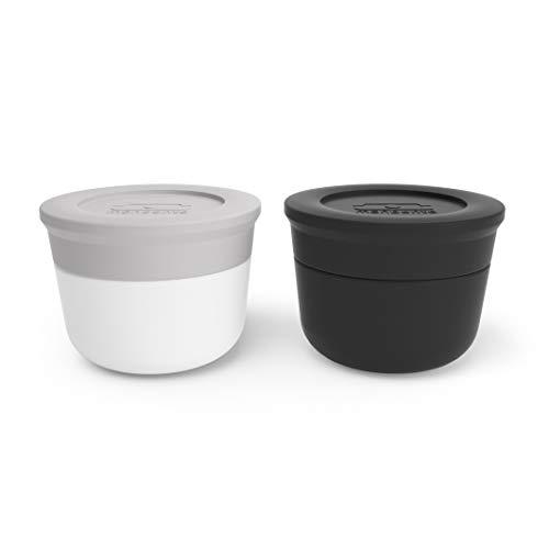 monbento - MB Temple S grau Coton/schwarz Onyx Dressing/Soße Behälter to-go x2...