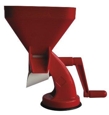 Trituradora de alimentos, pasador de tomate y vegetales – tomatera roja muy eficaz - passapomodoro grande – máquina para triturar de color rojo, de diseño