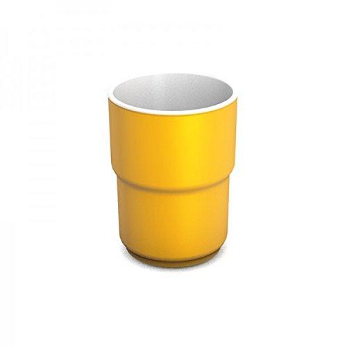 Ornamin Becher 230 ml gelb, Melamin | hochwertiger, stabiler, bunter Kunststoffbecher | robustes Alltags-Geschirr für Kinder, Camping, Picknick, Gemeinschaftsverpflegung, Großküchen, Institutionen | Saftbecher, Mehrwegbecher, Teetasse