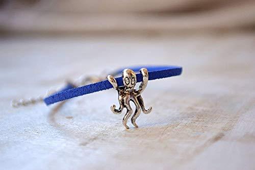 Octopus Pandora Style Charm Bracelet Ocean Animals Seaside Beach Party Favors Seashore Sea Animal Accessory For Him Boyfriend Boy Teen Teenager Dad Daddy Gift Ideas Fathers Day