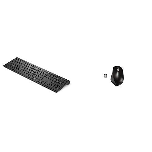 HP - PC 600 Pavilion Tastiera Wireless, Tastierino Numerico, Tasti Scelta Rapida & X4500 Mouse Wireless, Sensore Preciso, Laser fino a 1600 CPI, 3 Pulsanti