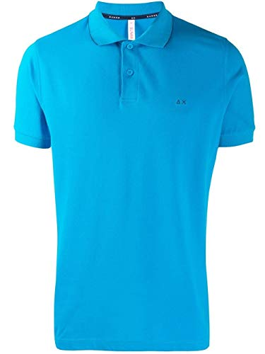 Luxury Fashion | Sun 68 Heren A1910613 Blauw Katoen Polo's | Seizoen Outlet