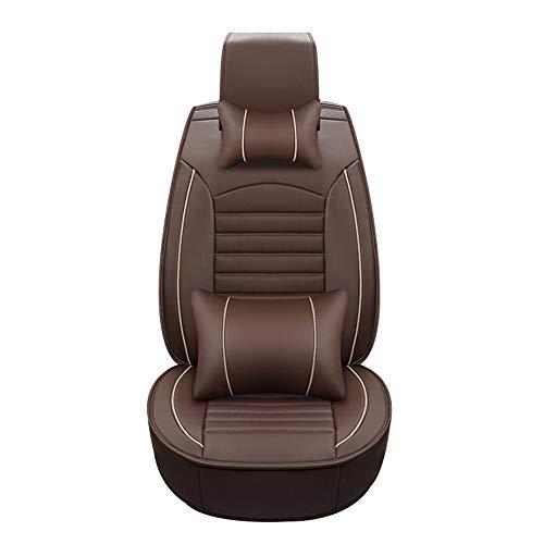HRFHLHY Automobil-Innendekoration Wear-Resistant Leder-Auto-Sitzabdeckung Kompatibel mit Mercedes-Benz,Braun,C300