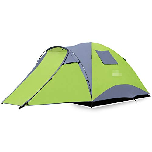 XJH-tunnelzelte Zelt im Freien 3-4 Personen Familie ein Raum eine Halle Camping Camping Regensturm Doppel Verdickung Ausrüstung Pavillon Sonnencreme Schuppen Pop-up große Camping Zelt Kabine Strandzel