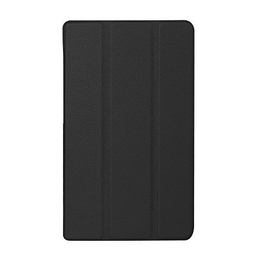 【PCATEC】 ASUS ZenPad 7.0 Z370KL / Z370C / Z370CG タブレット専用ケース 三つ折 カバー 薄型 軽量型 スタンド機能 PUレザーケース(ブラック)