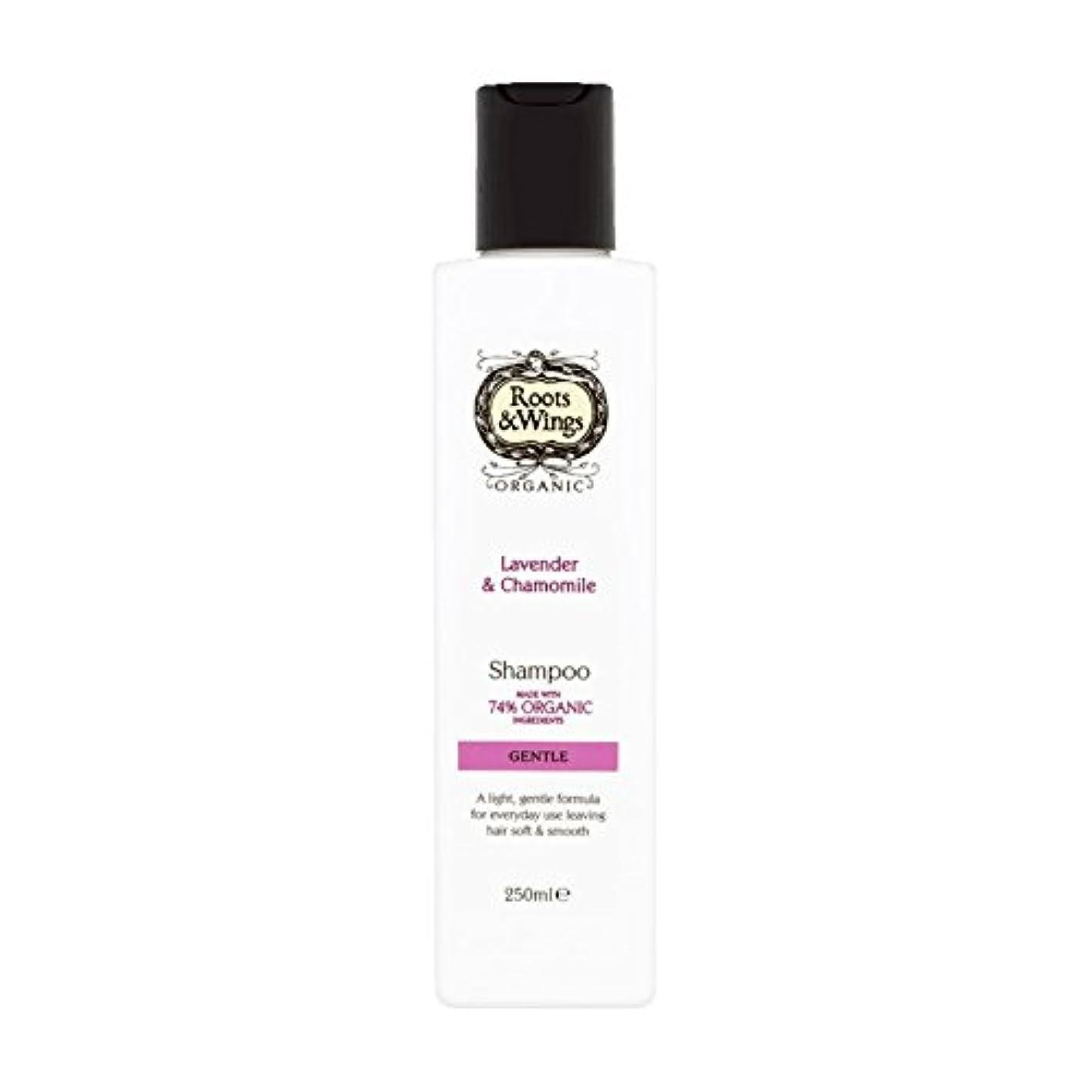 唯物論濃度共役Roots & Wings Shampoo Lavender & Chamomile 250ml (Pack of 6) - ルーツ&翼シャンプーラベンダー&カモミール250ミリリットル (x6) [並行輸入品]